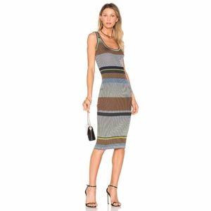Diane von Furstenberg Knit Tank Stripe Midi Dress